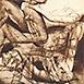 Autor: Igor PIAČKA, Akademický maliar, Názov diela: Lovers, Technika: kombinácia technik, Motív: figurálne, akty, Rozmery: 22x15,5 cm, Rok: 1994