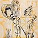 Autor: Igor PIAČKA, Akademický maliar, Názov diela: Ego, Technika: kombinovaná technika, Motív: figurálne, akty, Rozmery: 99x65 cm, Rok: 2000