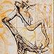 Autor: Igor PIAČKA, Akademický maliar, Názov diela: Hračka, Technika: kombinovaná technika, Motív: figurálne, akty, Rozmery: 99x65 cm, Rok: 2000
