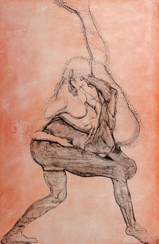 Igor PIAČKA, Akademický maliar - Venuša a Mars (2010), Technika: kombinovaná technika, Rozmery: 99x65 cm