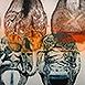 Autor: Igor PIAČKA, Akademický maliar, Name of work: Brainstorm, Technique: kombinácia grafických techník, Motif: figured, nudes, Size: 65x99 cm, Year: 1998