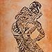 Autor: Igor PIAČKA, Akademický maliar, Názov diela: Kríza stredného veku, Technika: kombinácia grafických techník, Motív: figurálne, akty, Rozmery: 99x65 cm, Rok: 2010