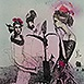Autor: Katarína VAVROVÁ, Akademická maliarka, Name of work: Cesta na Olivovú horu, Technique: kolorovaná grafika, Motif: figured, nudes, Size: 40x30 cm, Year: 2014