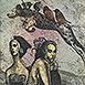 Autor: Katarína VAVROVÁ, Akademická maliarka, Názov diela: Ráno, Technika: kolorovaná grafika, Motív: figurálne, akty, Rozmery: 15x10 cm, Rok: 2014