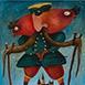 Autor: Fero LIPTÁK, Názov diela: Pandúr, Technika: akryl na plátne, Motív: figurálne, akty, Rozmery: 80x60 cm, Rok: 0