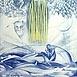 Autor: Naďa RAPPENSBER- GEROVÁ - JANKOVIČOVÁ, Ak. maliar, Name of work: Horúce leto IV, Technique: farebná litografia, Motif: figured, nudes, Size: 42x28 cm, Year: 2002