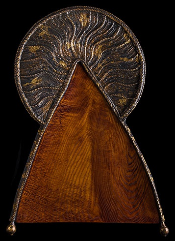 Arpád PÁL - Svätý (2014), Technique: jaseň, zlato, striebro, Size: 93x66 cm