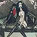 Autor: Katarína VAVROVÁ, Akademická maliarka, Názov diela: Lov, Technika: ručne kolorovaný lept, Motív: figurálne, akty, Rozmery: 13,5 cm, Rok: 2015