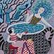 Autor: Sonja BŐHMEROVÁ, Názov diela: Čajník III, Technika: kombinácia techník, Motív: figurálne, akty, Rozmery: 24x29 cm, Rok: 2015