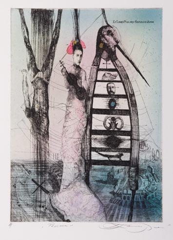 Katarína VAVROVÁ, Akademická maliarka - Pescara (20016), Technika: ručne kolorovaný lept, Rozmery: 29x20,5 cm