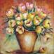Autor: Janka  HOLÁ, Názov diela: Tulipány, Technika: akryl, Motív: zátišie, Rozmery: 34,5x35,5 cm, Rok: 2016
