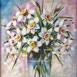 Autor: Janka  HOLÁ, Názov diela: Narcisy, Technika: akryl, Motív: zátišie, Rozmery: 33x28 cm, Rok: 2016