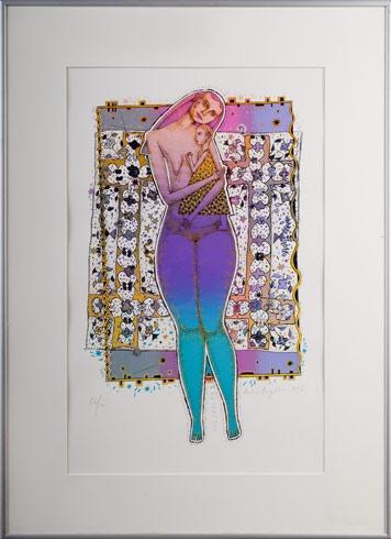 Ak. maliar Andrej AUGUSTÍN - Materstvo (1997), Technika: serigrafia, Rozmery: 44 x 28 cm