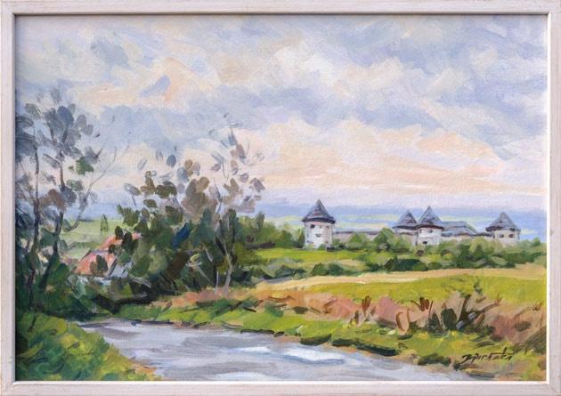 Martin DJURAČKA - Pevnosť Bzovík (2011), Technika: akryl, Rozmery: 47x70 cm