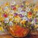 Autor: Zuzana LUKÁČOVÁ, Názov diela: Oranžová váza, Technika: maľba akrylom, Motív: zátišie, Rozmery: 50x70 cm, Rok: 2016