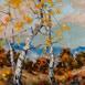 Autor: Rudolf RYPÁK, Názov diela: Pod Sitnom, Technika: olejomaľba, Motív: krajina, architektúra, Rozmery: 70x50 cm, Rok: 2016