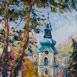 Autor: Rudolf RYPÁK, Názov diela: Banská Štiavnica - Starý zámok , Technika: olejomaľba, Motív: krajina, architektúra, Rozmery: 70x50 cm, Rok: 2016