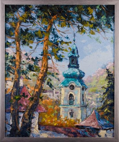 Rudolf RYPÁK - Banská Štiavnica - Starý zámok  (2016), Technika: olejomaľba, Rozmery: 70x50 cm