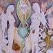Autor: Irena BRESTOVANSKÁ, Názov diela: Cyklus o duši II, Technika: kolorovaná perokresba, Motív: figurálne, akty, Rozmery: 25x19 cm, Rok: 2015