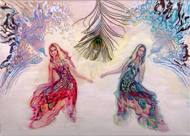 Júlia PIAČKOVÁ, Akademická maliarka - Glory and Vanity (2016), Technika: kombinácia maliarskych techník na plátne, Rozmery: 70x50 cm