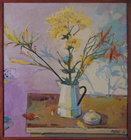 Marian RUMAN, Ak. maliar - Lalie - leto (2006), Technika: olejomaľba, Rozmery: 70x65 cm