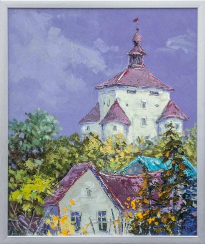 Rudolf RYPÁK - Banská Štiavnica - Nový zámok (2016), Technika: olejomaľba, Rozmery: 60x50 cm