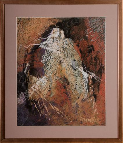 Zuzana BOBOVSKÁ - O stromoch I (2008), Technique: Olejový pastel, Size: 40x32