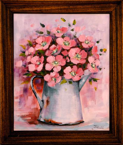 Janka  HOLÁ - Divé ruže (2017), Technique: akryl, Size: 31x26