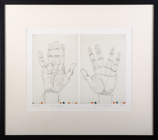 Milan LUKÁČ - Pozdrav-ruky (2016), Technika: kombinvaná technika, Rozmery: 32x40