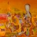 Autor: Daniela KRAJČOVÁ, Ak. maliarka, Názov diela: Ráno, Technika: Olej, kombinácia techník, Motív: abstraktné, Rozmery: 67x80, Rok: 2013