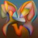 Autor: Orest DUBAY ml., Akademický maliar, Názov diela: Pokušenie X, Technika: olejomaľba, Motív: abstraktné, Rozmery: 40x40, Rok: 2015
