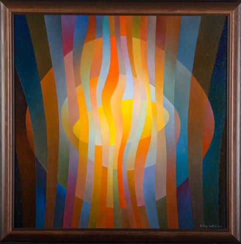 Orest DUBAY ml., Akademický maliar - Slnečný deň II (2017), Technika: olejomaľba, Rozmery: 60x60