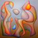 Autor: Orest DUBAY ml., Akademický maliar, Názov diela: Chvíle pochopenia I, Technika: olejomaľba, Motív: abstraktné, Rozmery: 60x60, Rok: 2017