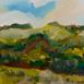 Autor: Ruth DUBAYOVÁ, Akademická maliarka, Názov diela: Krajina pod Sitnom V, Technika: olejomaľba, Motív: krajina, architektúra, Rozmery: 24x30, Rok: 2016