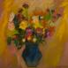 Autor: Ruth DUBAYOVÁ, Akademická maliarka, Názov diela: Jesenná kytica III, Technika: olejomaľba, Motív: zátišie, Rozmery: 50x50, Rok: 2012