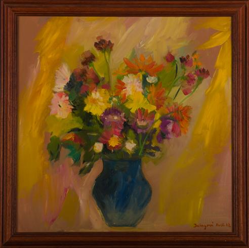 Ruth DUBAYOVÁ, Akademická maliarka - Jesenná kytica III (2012), Technika: olejomaľba, Rozmery: 50x50