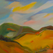 Autor: Ruth DUBAYOVÁ, Akademická maliarka, Názov diela: Slnečné kopce III, Technika: olejomaľba, Motív: krajina, architektúra, Rozmery: 50x70, Rok: 2017