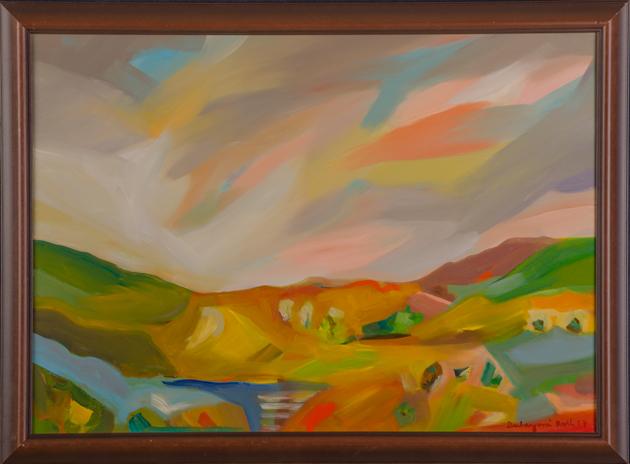 Ruth DUBAYOVÁ, Akademická maliarka - Slnečné kopce VII (2017), Technika: olejomaľba, Rozmery: 50x70