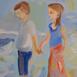 Autor: Ruth DUBAYOVÁ, Akademická maliarka, Názov diela: Myšlienky II, Technika: olejomaľba, Motív: ostatné nezaradené, Rozmery: 50x40, Rok: 2014