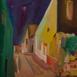 Autor: Ruth DUBAYOVÁ, Akademická maliarka, Názov diela: Staré mesto XII, Technika: olejomaľba, Motív: krajina, architektúra, Rozmery: 30x30, Rok: 2016