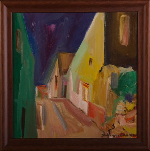 Ruth DUBAYOVÁ, Akademická maliarka - Staré mesto XII (2016), Technika: olejomaľba, Rozmery: 30x30