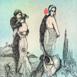 Autor: Katarína VAVROVÁ, Akademická maliarka, Názov diela: H. Ch. Andersen III - Malá morská panna, Technika: kolorovaný lept, Motív: ostatné nezaradené, Rozmery: 20x15, Rok: 2018