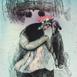 Autor: Katarína VAVROVÁ, Akademická maliarka, Názov diela: Baška I, Technika: kolorovaný lept, Motív: ostatné nezaradené, Rozmery: 25x19,5, Rok: 2018