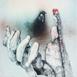 Autor: Katarína VAVROVÁ, Akademická maliarka, Názov diela: Pocta Karolovi Plickovi III, Technika: kolorovaný lept, Motív: ostatné nezaradené, Rozmery: 29,5x29,5, Rok: 2018