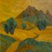 Autor: Zdeno HORECKÝ, Akademický maliar, Názov diela: Leto pod Rozsutcom (Zázrivá), Technika: olej+tempera, Motív: krajina, architektúra, Rozmery: 20x20, Rok: 2010