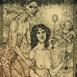 Autor: Marian ORAVEC, Ak. maliar, Názov diela: Bez názvu, Technika: lept+mezotint, Motív: ostatné nezaradené, Rozmery: 13,5x9,5, Rok: 1999