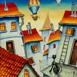Autor: Janka  HOLÁ, Názov diela: Cesta okolo sveta II, Technika: olej, Motív: ostatné nezaradené, Rozmery: 33x30, Rok: 2018