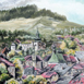 Autor: František Kašiar, Názov diela: Banská Štiavnica - Tri veže, Technika: olej, Motív: krajina, architektúra, Rozmery: 70x50, Rok: 2017
