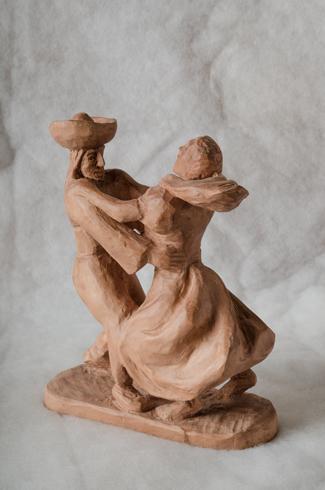 Jozef ŠÍMA - Tančiaca dvojica (2017), Technika: drevorezba, Rozmery: 26x21,5