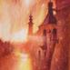 Autor: Daniela TARINOVÁ, rod. Vachálková, Názov diela: Podvečer v Banskej Štiavnici, Technika: akvarel, Motív: krajina, architektúra, Rozmery: 36,5x27, Rok: 2017